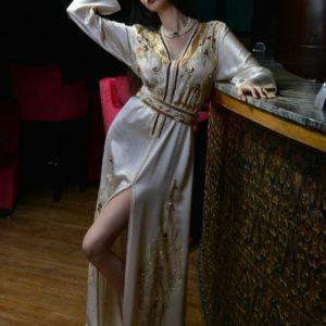 Caftan Violet Claire Doré – Karat Caftan